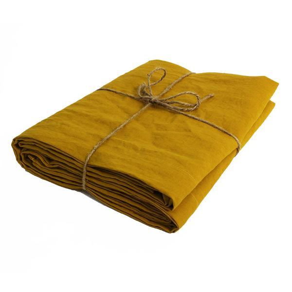 DIMENSIONS: 240*310 - CURRY LINEN SHEETS3 PCS LEFT