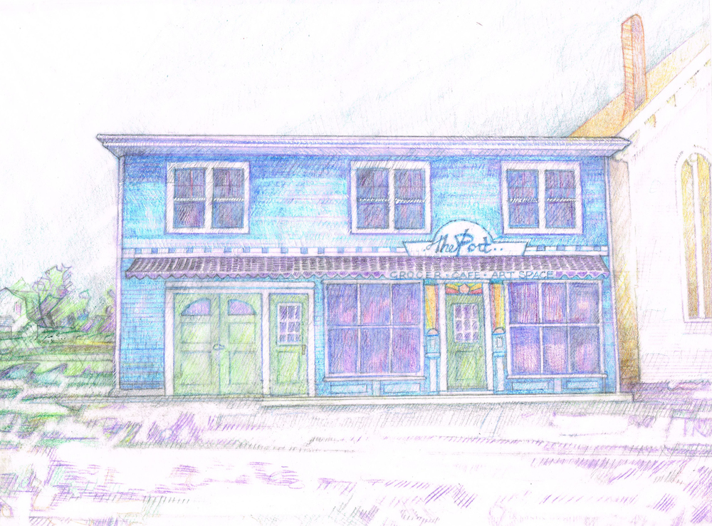 The finished rendering of the Port grocer.