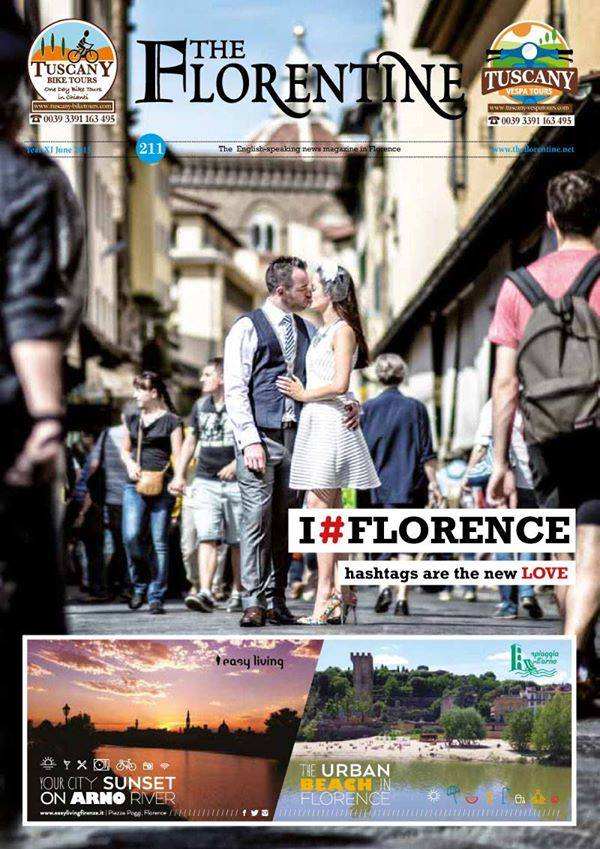 "One picture taken during the engagement session became the June cover of ""The Florentine""."
