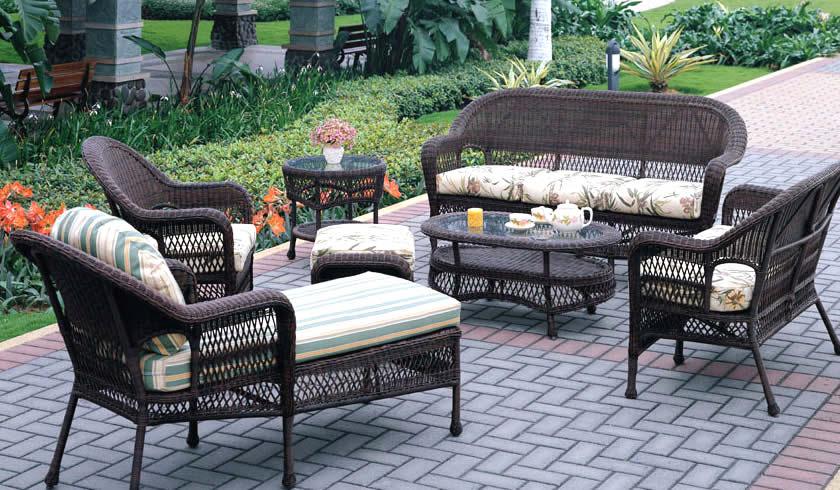 Corona Wicker Sofa Group Patio Renaissance Outdoor