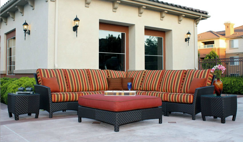 Huntington Wicker Outdoor Sectional Sofa Patio Renaissance Outdoor Furn