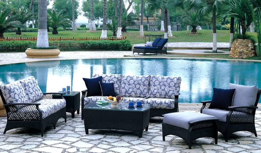 Odessa Wicker Sofa Group Patio Renaissance Outdoor