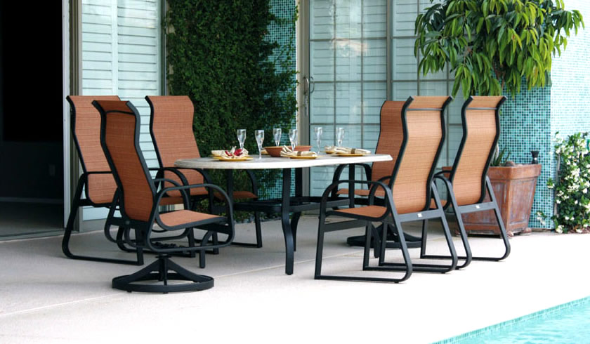 patio renaissance aruba sling outdoor dining furniture charlotte nc jpg