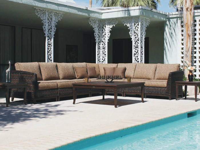 Patio Renaissance Catalina Wicker Outdoor Large Sectional Sofa Furniture Charlotte