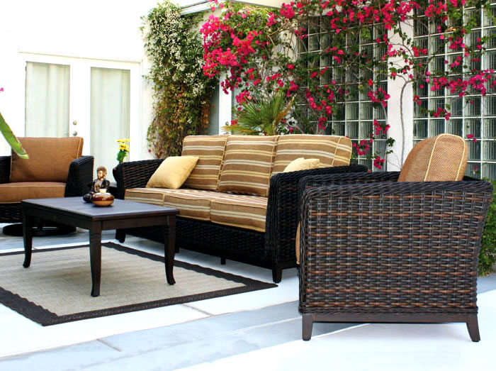 Patio renaissance catalina wicker outdoor sofa furniture for Outdoor furniture 28277
