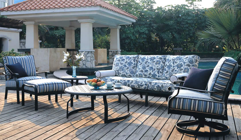 Patio renaissance mandalay sling outdoor casual furniture for Outdoor furniture 28277