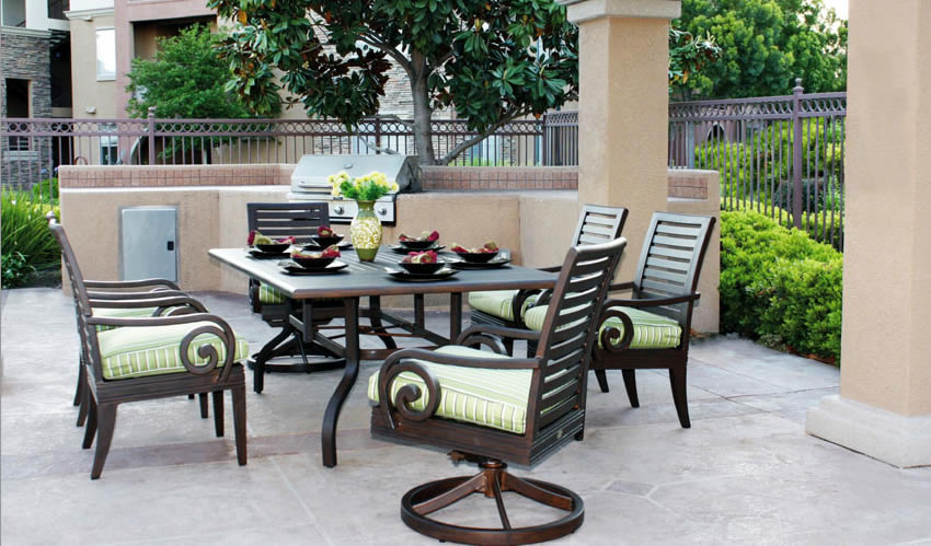 Patio renaissance naples outdoor dining furniture for Outdoor furniture 28277