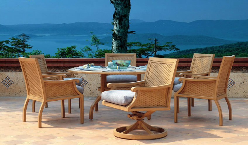Patio renaissance venice outdoor dining furniture for Outdoor furniture 28277