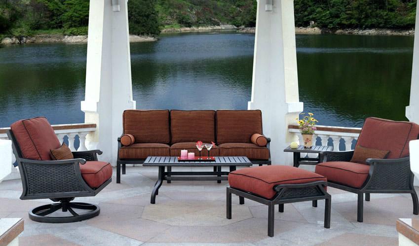Patio renaissance venice outdoor sofa furniture charlotte for Outdoor furniture 28277