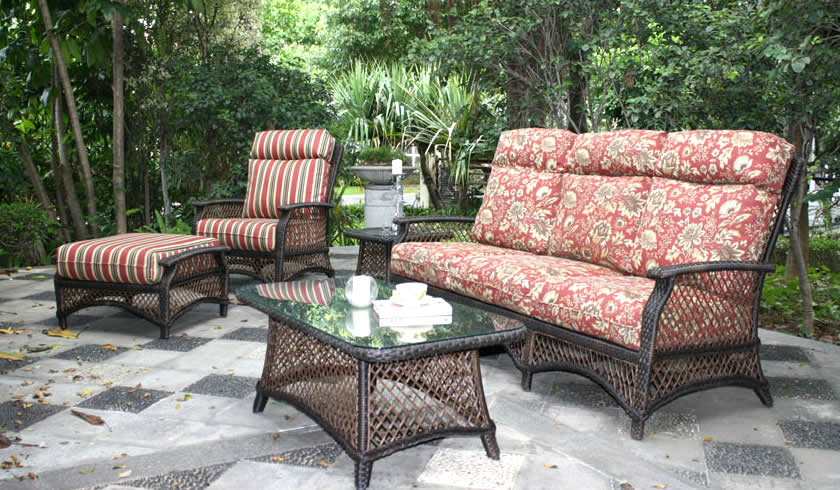 Windsor Wicker Sofa Set Patio Renaissance Outdoor Furniture