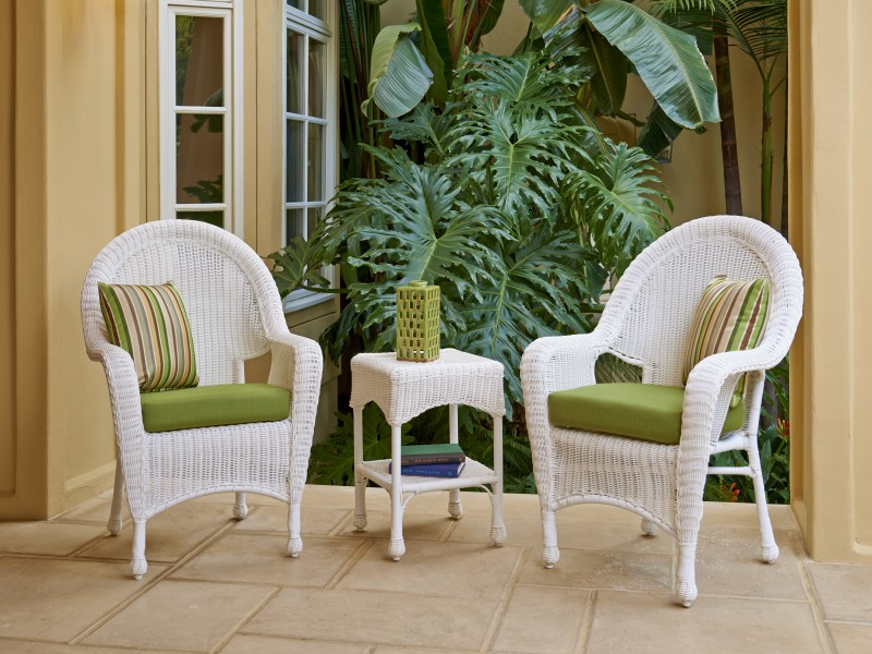 Hatteras Outdoor White Wicker Furniture Collection by North Cape (NCI) Wicker