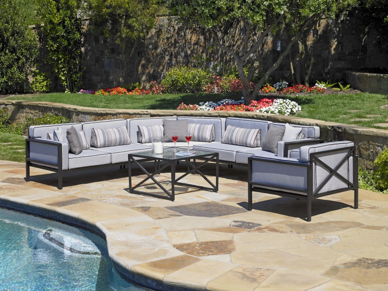 Matrix Cast Aluminum Outdoor Furniture Collection by North Cape (NCI) Wicker
