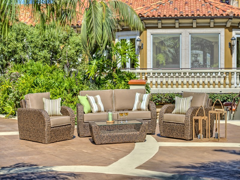 Pelican Cove Outdoor Wicker Furniture Collection by North Cape (NCI) Wicker