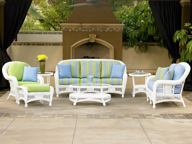 St. Lucia Outdoor White Wicker Furniture Collection by North Cape (NCI) Wicker
