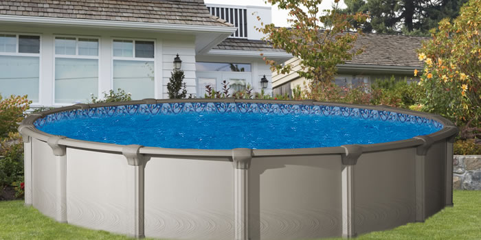 Morada rtr round above ground swimming pool oasis outdoor of charlotte nc outdoor wicker Square swimming pools for sale