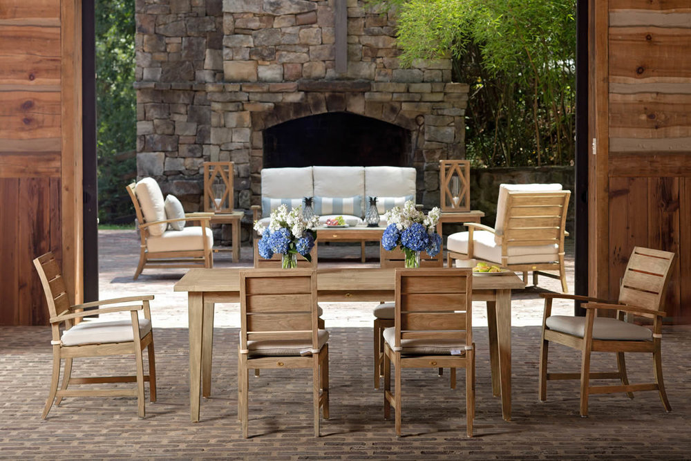 CHARLESTON Teak Lounge & Dining Collection by Summer Classics Outdoor Furniture