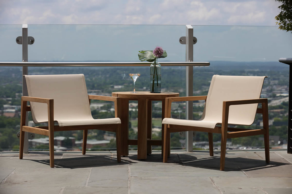 COAST Teak Sling Collection by Summer Classics Outdoor Furniture