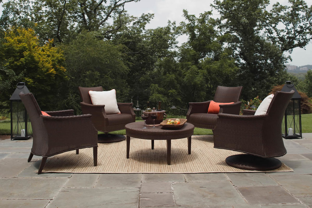 BENTLEY Mahogany Wicker Lounge Collection by Summer Classics Outdoor Furniture