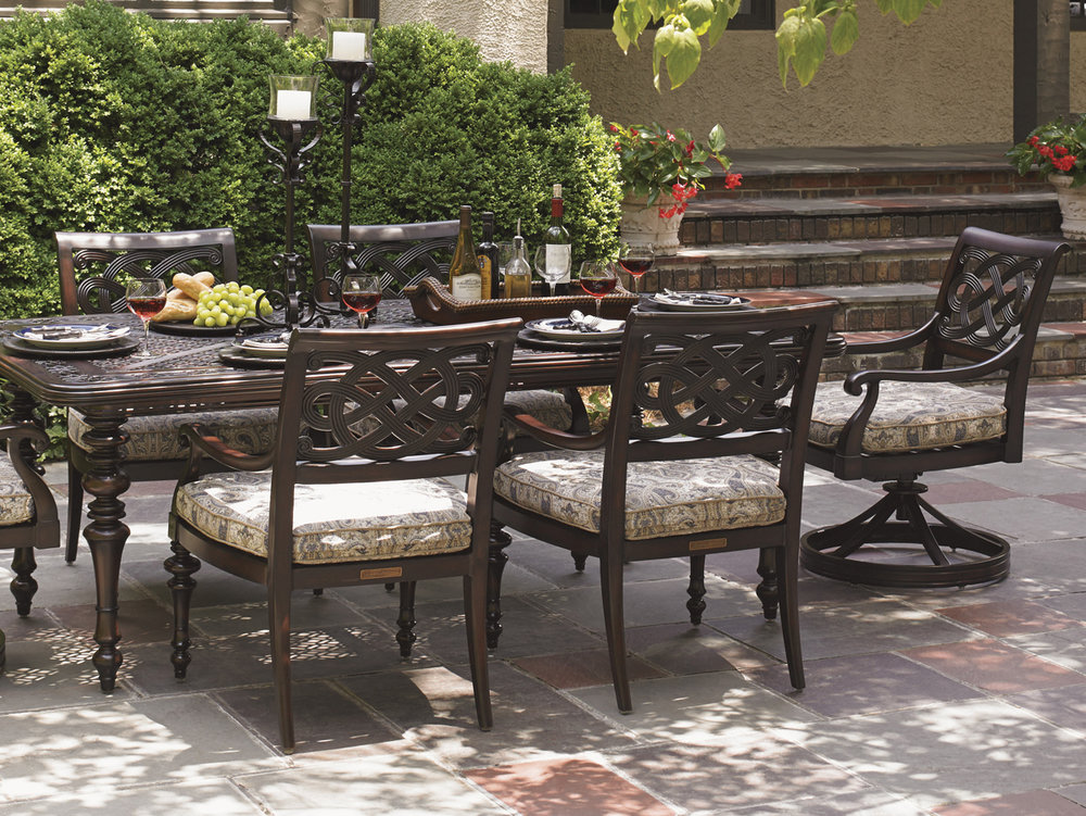 BLACK SANDS Aluminum Dining Collection by Tommy Bahama Outdoor Furniture