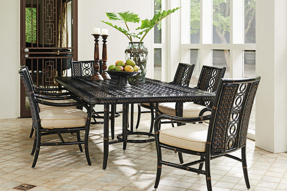 MARIMBA Aluminum / Wicker Dining Collection by Tommy Bahama Outdoor Furniture