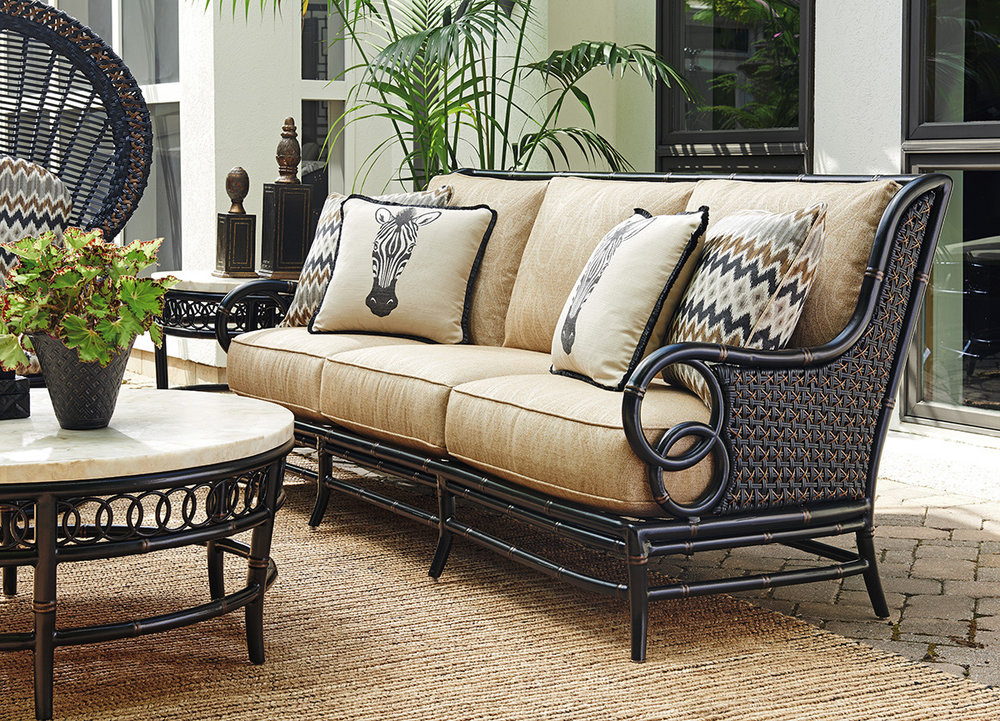 MARIMBA Aluminum / Wicker Lounge Collection by Tommy Bahama Outdoor Furniture