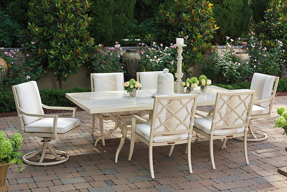 MISTY GARDEN Aluminum Dining Collection from Tommy Bahama Outdoor Furniture