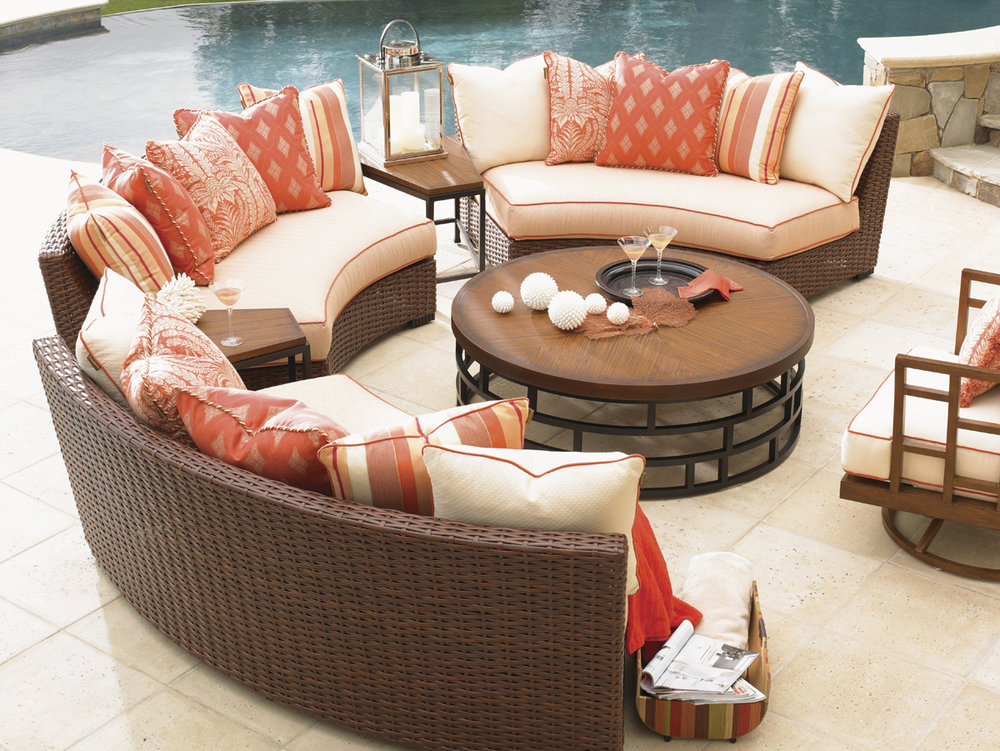 OCEAN CLUB PACIFICA Wicker Sectional Collection by Tommy Bahama Outdoor Furniture