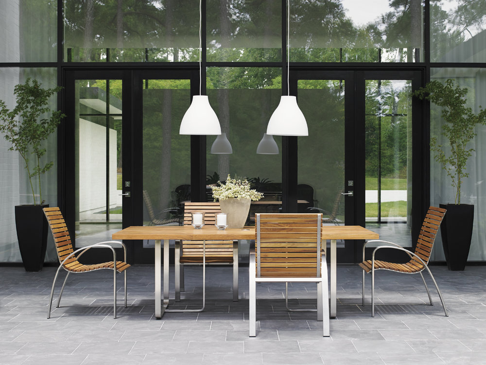 TRES CHIC Teak Dining Collection by Tommy Bahama Outdoor Furniture
