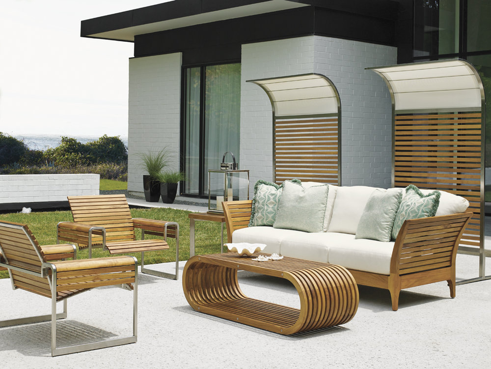 TRES CHIC Teak Lounge Collection By Tommy Bahama Outdoor Furniture
