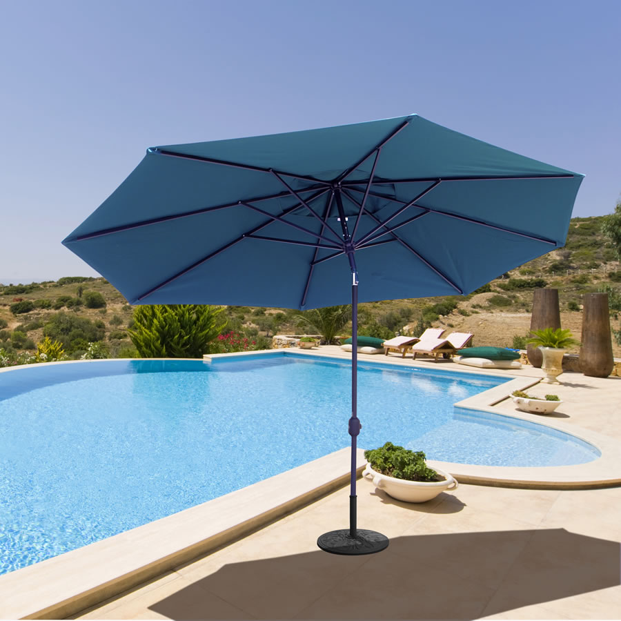 8 Foot X 11 Ft Oval / Rectangle Premium Outdoor Patio Umbrella Featuring  Sunbrella Fabric