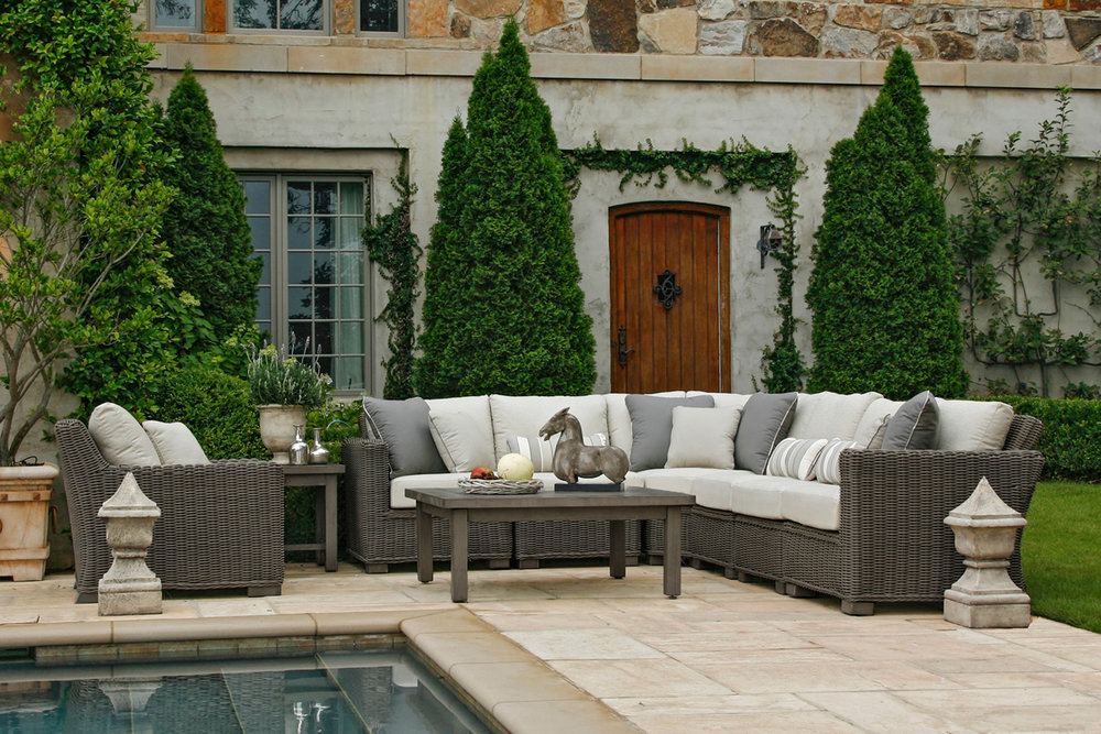 RUSTIC Wicker Outdoor Furniture Collection By Summer Classics