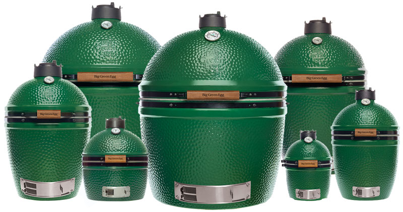 Oasis stocks ALL SEVEN SIZES of Big Green Egg Smoker / Grills from Mini to XXL at unbeatable prices.
