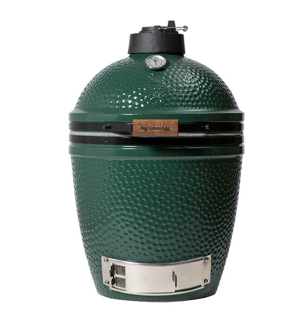MEDIUMBig Green Egg Smoker Grill - Specs:Grid Diameter: 15 inCooking Area: 177 sq inWeight: 114 lbs / 52 kgsThe Medium Big Green Egg can cook: 18-pound turkey, 6 burgers, 3 chickens vertically, 4 steaks, or 4 racks of ribs vertically