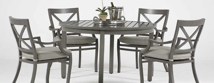 TERRAZZA II Aluminum Dining Collection by Summer Classics Private Label Outdoor Furniture