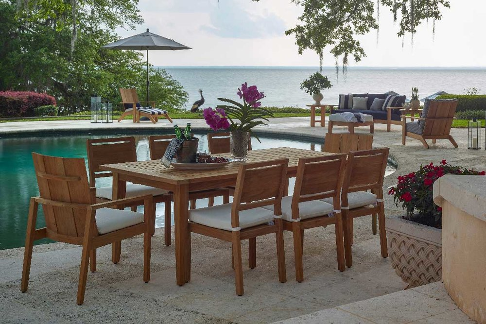 ASHLAND Teak Lounge & Dining Collection by Summer Classics Outdoor Furniture - NEW FOR 2019!
