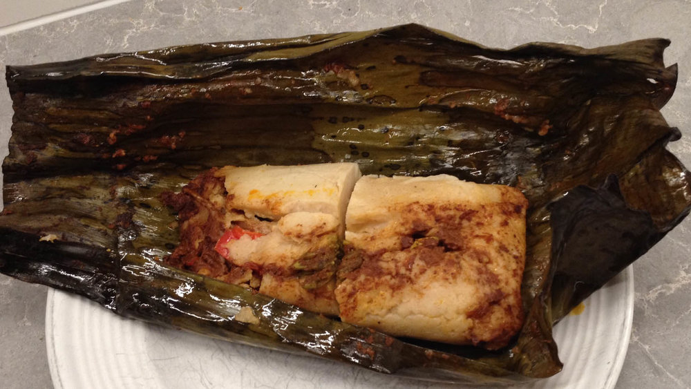 My DNA background is a mixture of Native American, European, a dash of Asian and Northern African.  My cultural background is Mexican.  A traditional dish for holidays is tamales!