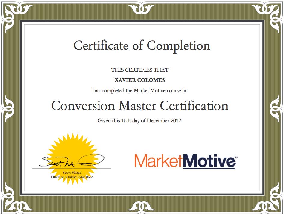 Market Motive CRO Certification
