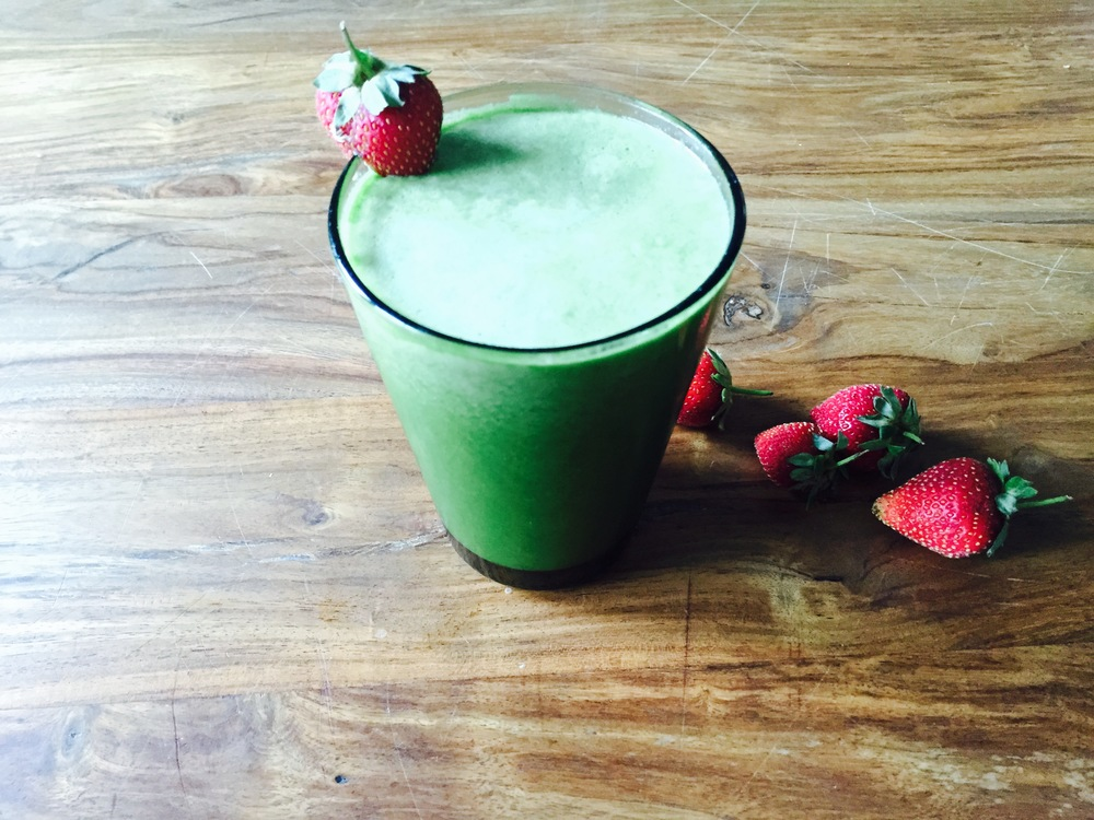 Strawberry and Greens Smoothie