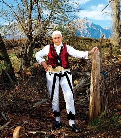 Hajdari, awoman who chose to live as a man (burnnesha), in northern Albania