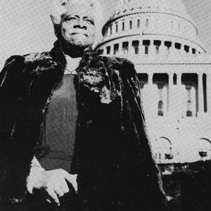 "This is Mary McLeod Bethune 1875 - 1955. She was an educator and Civil Rights leader who founded the National Council of Negro Women, and served as an adviser to FDR on his ""black cabinet."" She promoted the education of African-American youth."