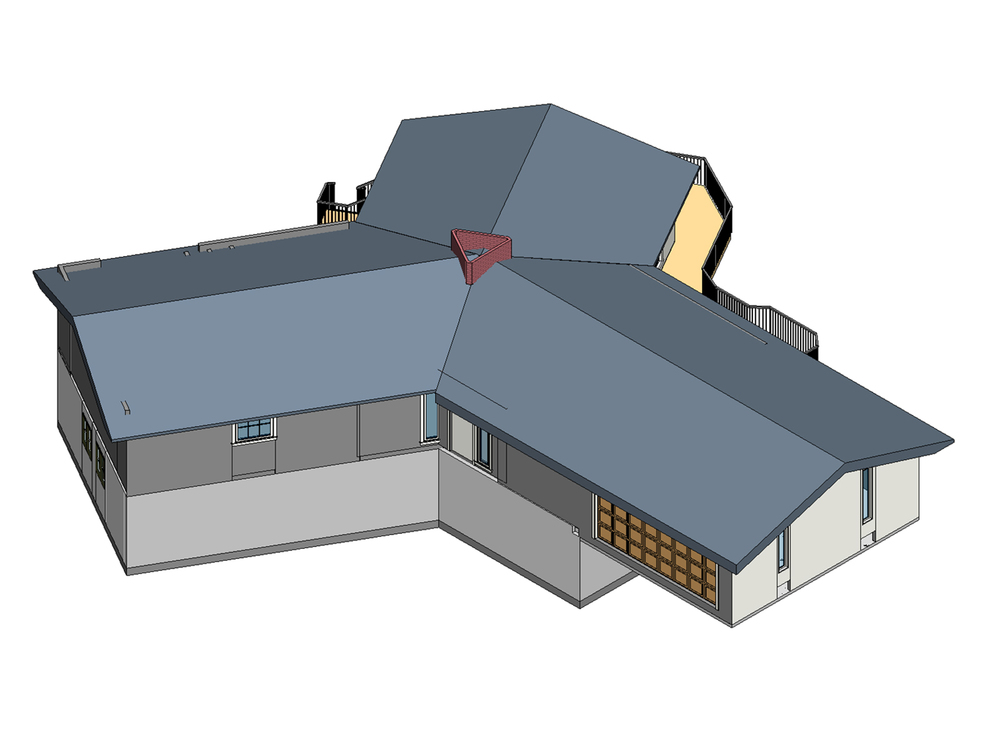 3d model of original house, created from field measurements