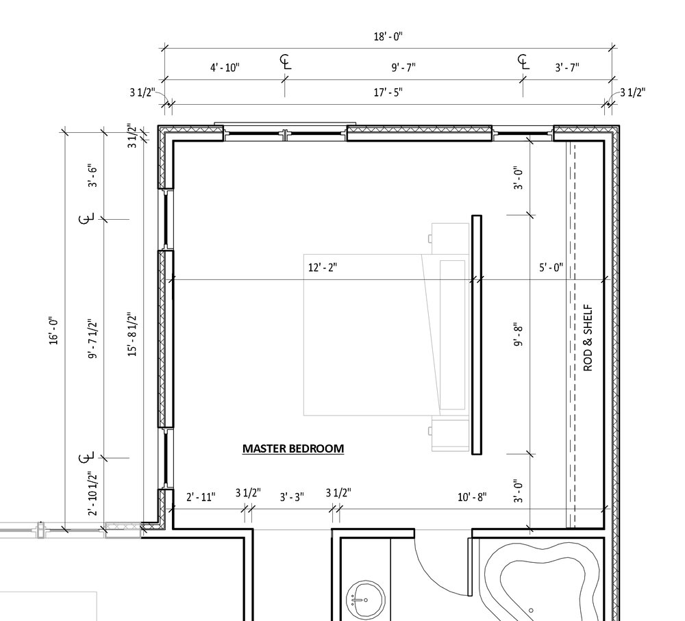 Master bedroom floor plan