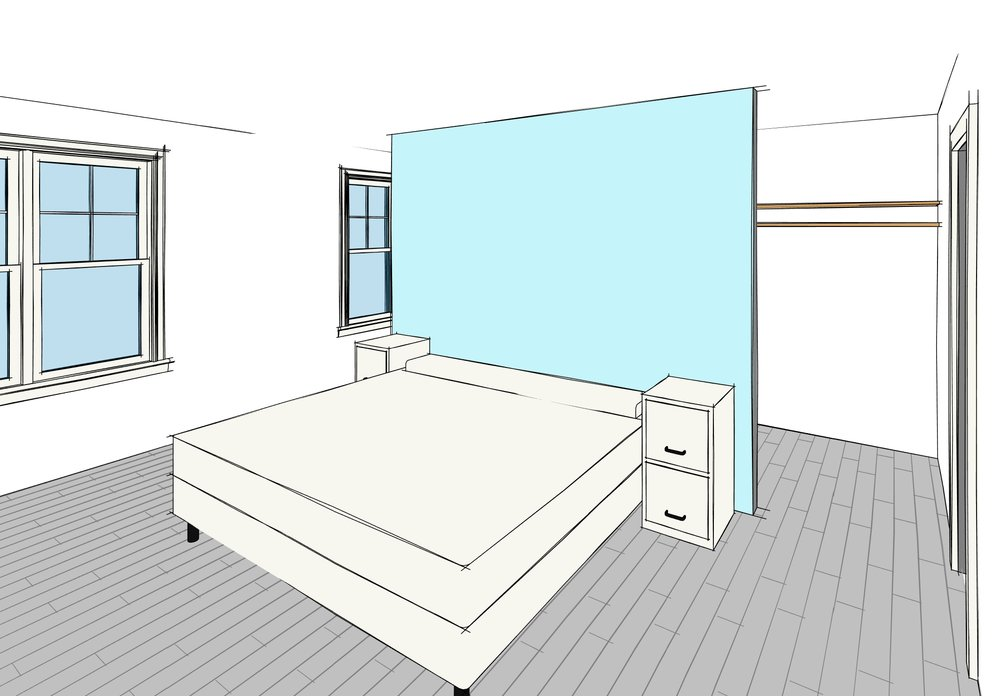 3D view from our design software. This is an actual representation of the current floor plan.