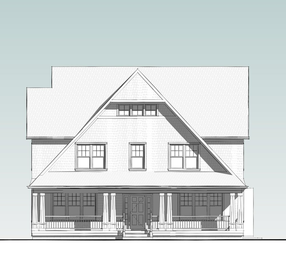 Shingle Style elevation