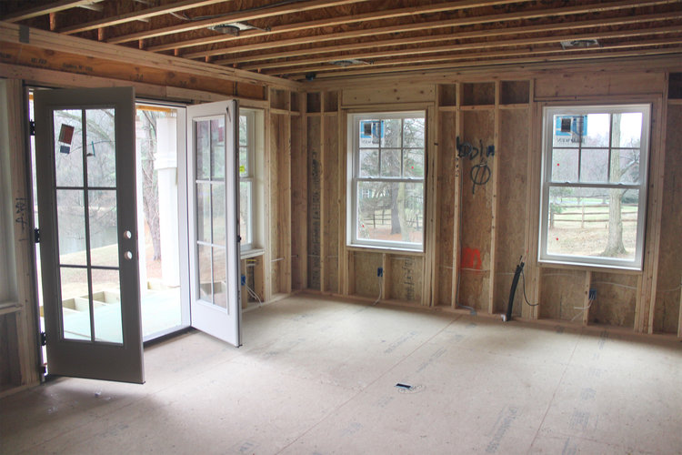 The blueprint blog by mangan group architects mangan group framed walls ready for insulation malvernweather Choice Image