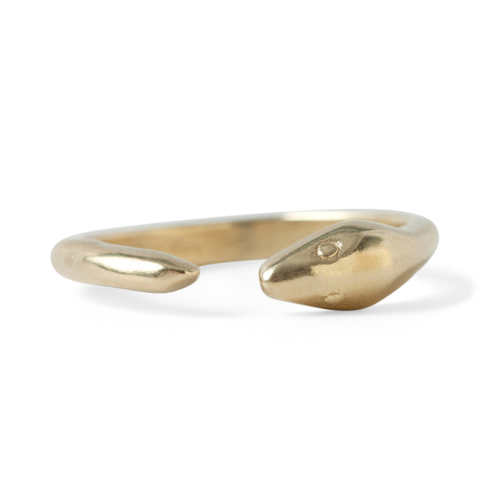 BRASS SNAKE RING Julie Nolan