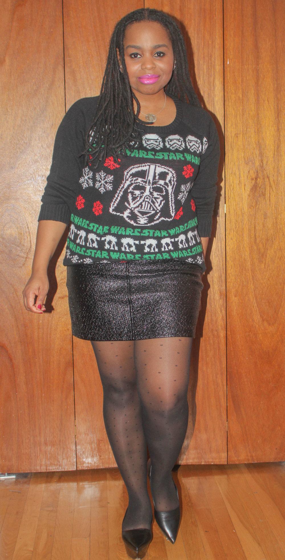 Mini Skirt: Zara Sheer Dot Tights: Ann Taylor Shoes: Jil Sander purchased at Fox & Fawn Bushwick