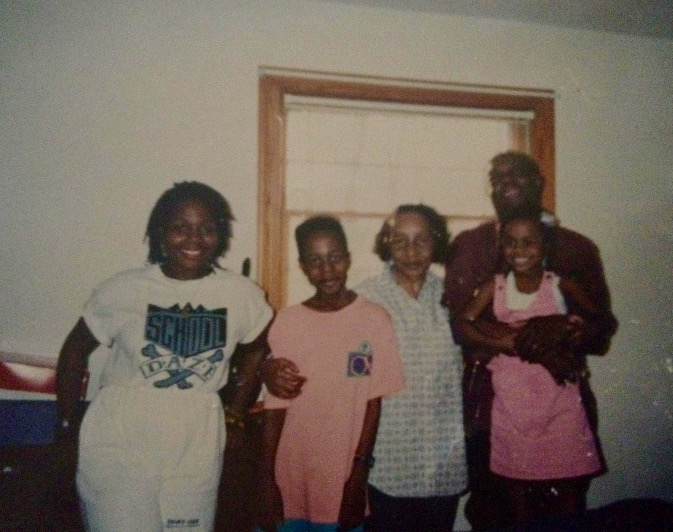 My sister India, my brother Nei, Nana, Popi, and I