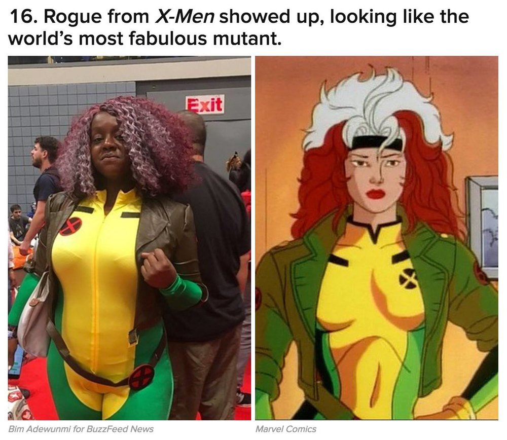 Akua featured on  Buzzfeed's  NYCC round up for her Rogue Cosplay
