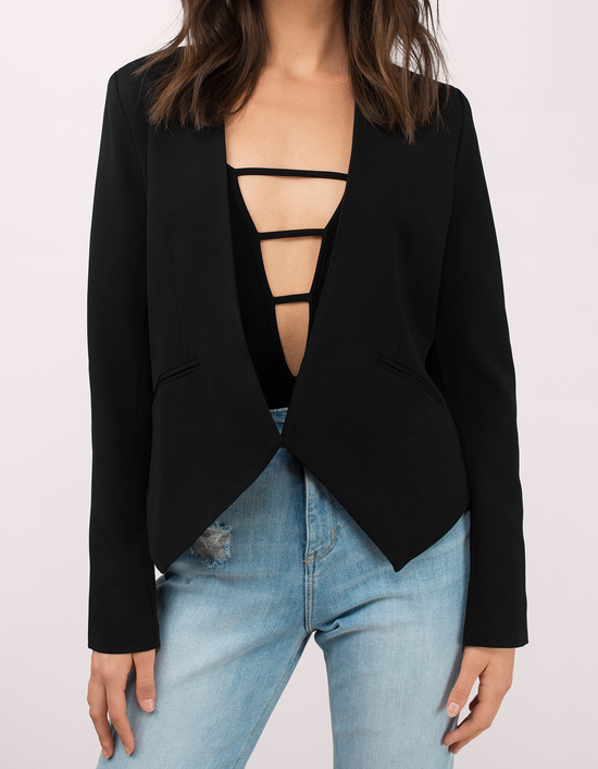 ANGLES ALL AROUND BLACK BLAZER
